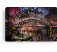 What a Blast - Sydney New Years Day 2015  Canvas Print