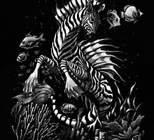 Zebra Hippocampus by SMorrisonArt