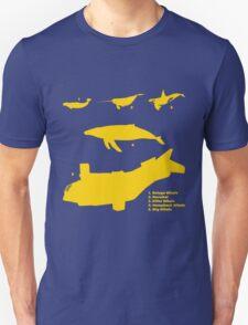 Whale Comparison Chart, NC T-Shirt
