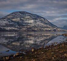 Okanagan Lake at Penticton, BC by Sheri Bawtinheimer