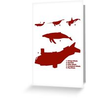Whale Comparison Chart, TR Greeting Card