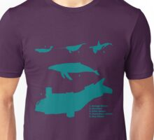 Whale Comparison Chart, VS Unisex T-Shirt