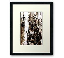 Sleeping Gondolas Framed Print