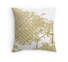 Vancouver map Throw Pillow