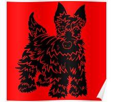 Shaggy Scotty Dog  Poster