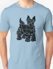 Shaggy Scotty Dog  Unisex T-Shirt