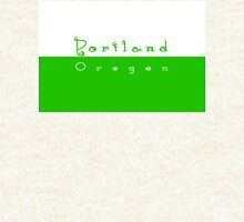 Portland Oregon Coffee Rings - Green & White Zipped Hoodie