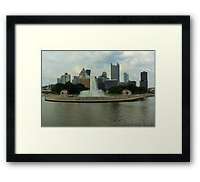 View of Pittsburgh's Point State Park from the Gateway Clipper Fleet Framed Print