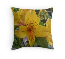 Yellow Bundle Throw Pillow
