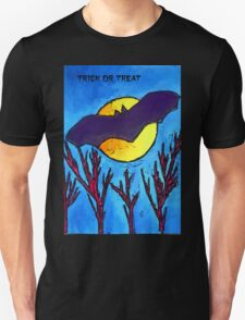 Halloween bat and moon trick or treat Unisex T-Shirt