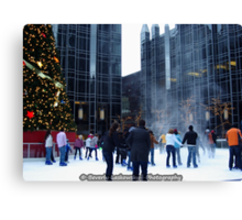 PPG Place in Pittsburgh, PA - Wind Made a Snowy Tornado Canvas Print