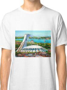 MONTREAL OLYMPIC STADIUM MONTREAL SKYLINE PAINTINGS Classic T-Shirt
