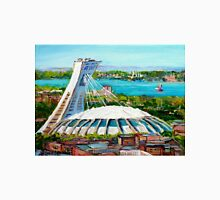 MONTREAL OLYMPIC STADIUM MONTREAL SKYLINE PAINTINGS T-Shirt