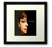 Alison - Orphan Black - one of a kind Framed Print
