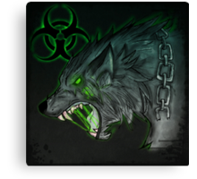 Radioactive Wolf - Green Canvas Print