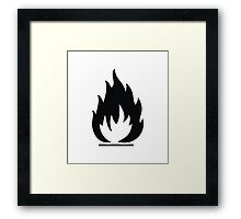 Highly Flamable  Framed Print
