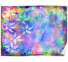 Colorful icy abstract Poster