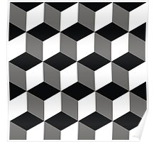 background squares Poster