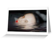 drowning with sorrow Greeting Card