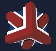Union Jack Cube I by glyphobet
