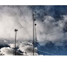 Clouded Towers! Photographic Print