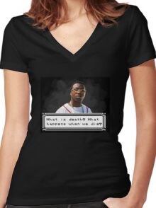 Gucci Thinking Women's Fitted V-Neck T-Shirt