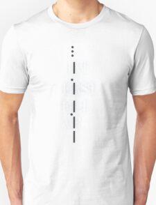 Intersellar STAY Morse code  Unisex T-Shirt