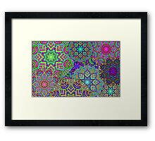 Floral abstract pattern Framed Print