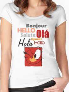 Hello to the world Women's Fitted Scoop T-Shirt