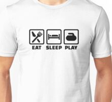 Eat Sleep Play Curling Unisex T-Shirt