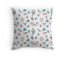 ANIMAL FRIENDS HOLIDAY Throw Pillow