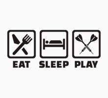 Eat Sleep Play Darts Baby Tee