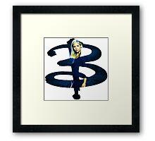 B - Buffy dark Blue Framed Print