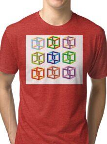 optical illusion  Tri-blend T-Shirt