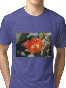 Cactus Flower Center Tri-blend T-Shirt