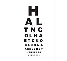 eye test Photographic Print