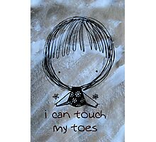 I Can Touch My Toes! Photographic Print