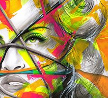 MADONNA REBEL HEART Original Ink & Acrylic Painting by artxr