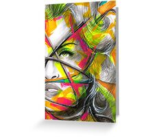 MADONNA REBEL HEART Original Ink & Acrylic Painting Greeting Card