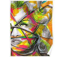 MADONNA REBEL HEART Original Ink & Acrylic Painting Poster