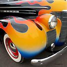 Classic Car Front End Multicolor Fire by Barberelli