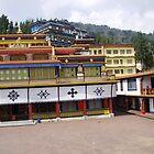 Rumtek Monastery Sikkim by Louise Levy