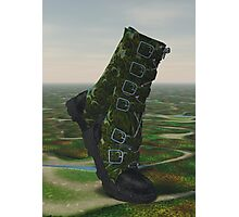 Country Walking Boots Photographic Print