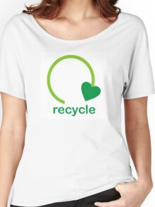 Recycle Sign Women's Relaxed Fit T-Shirt