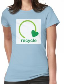 Recycle Sign Womens Fitted T-Shirt