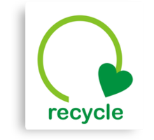 Recycle Sign Canvas Print
