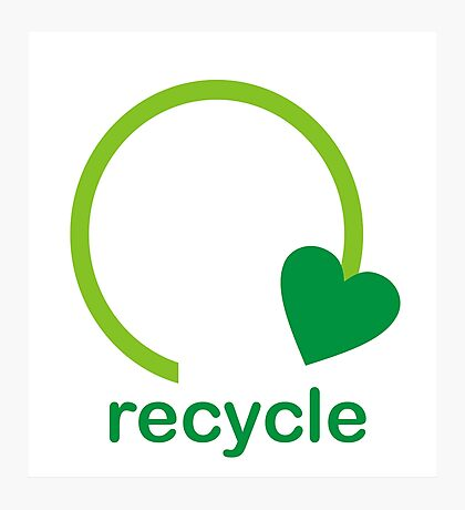 Recycle Sign Photographic Print