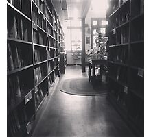 The Dusty Bookstore. Photographic Print