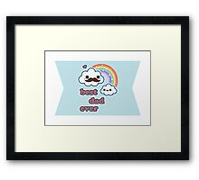 Cute Best Dad Ever Framed Print