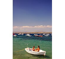 Greek Blue Photographic Print